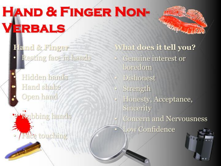 Hand & Finger Non-Verbals