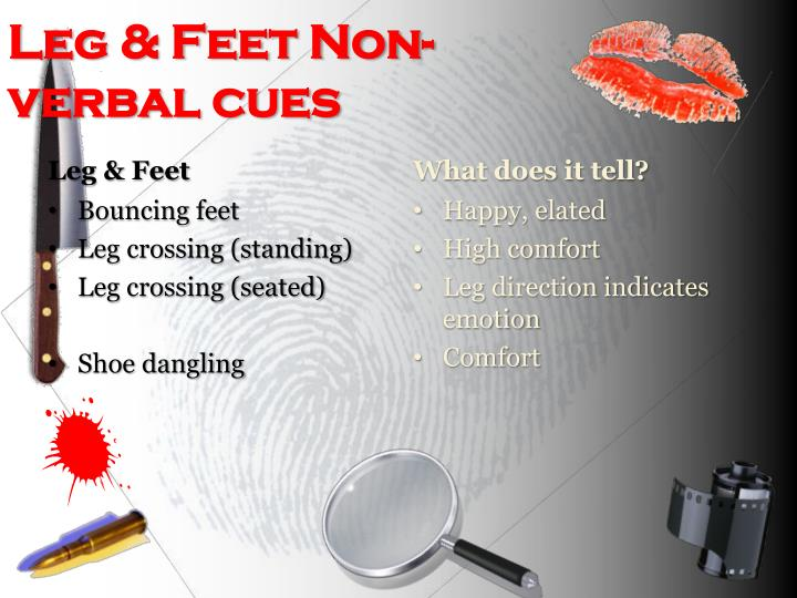Leg & Feet Non-verbal cues