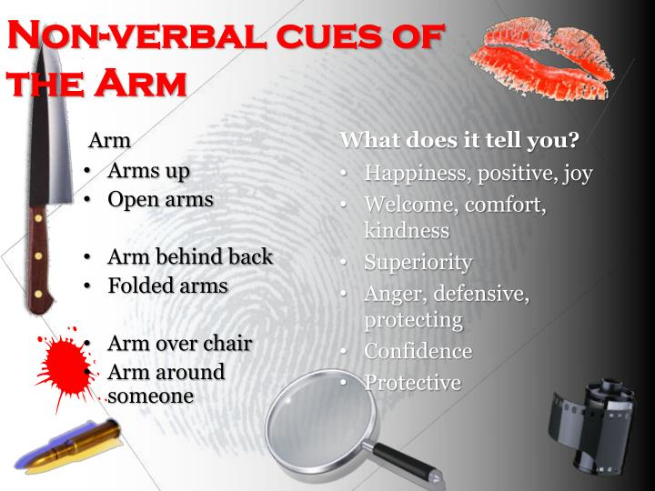 Non-verbal cues of the Arm