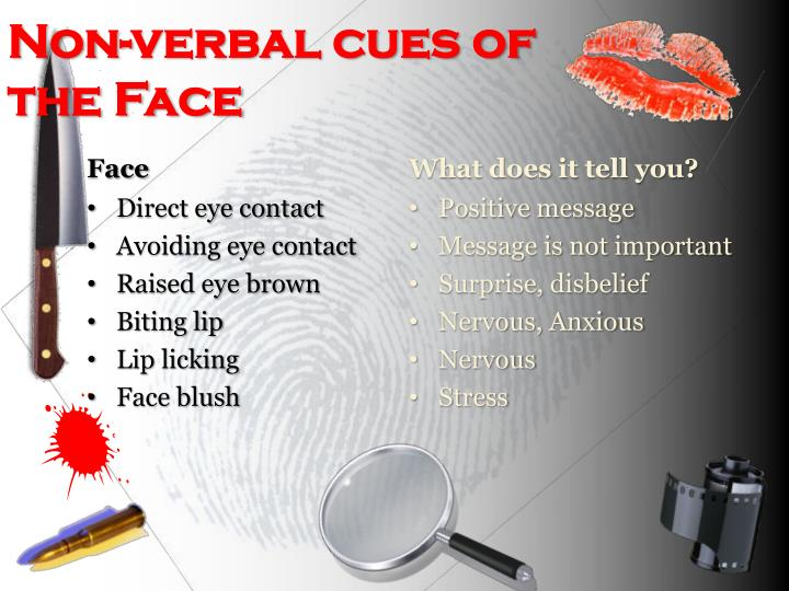Non-verbal cues of the Face