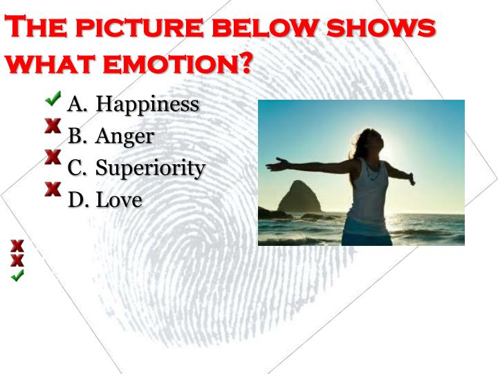 The picture below shows what emotion?