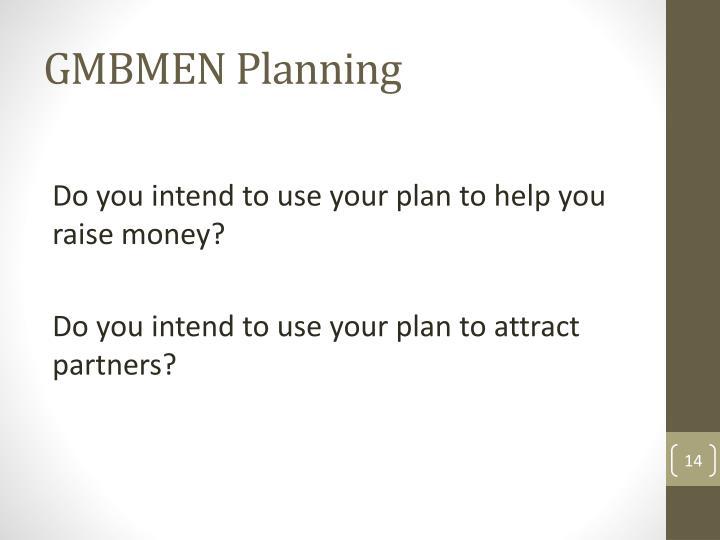 GMBMEN Planning