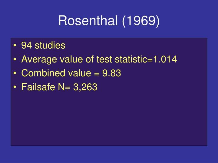 Rosenthal (1969)