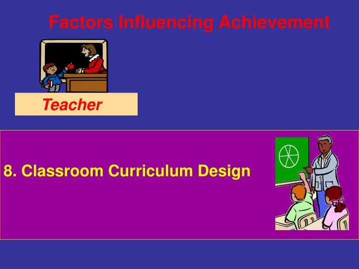 8. Classroom Curriculum Design
