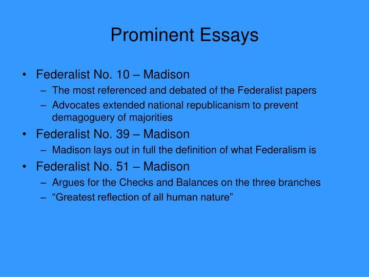 Prominent Essays
