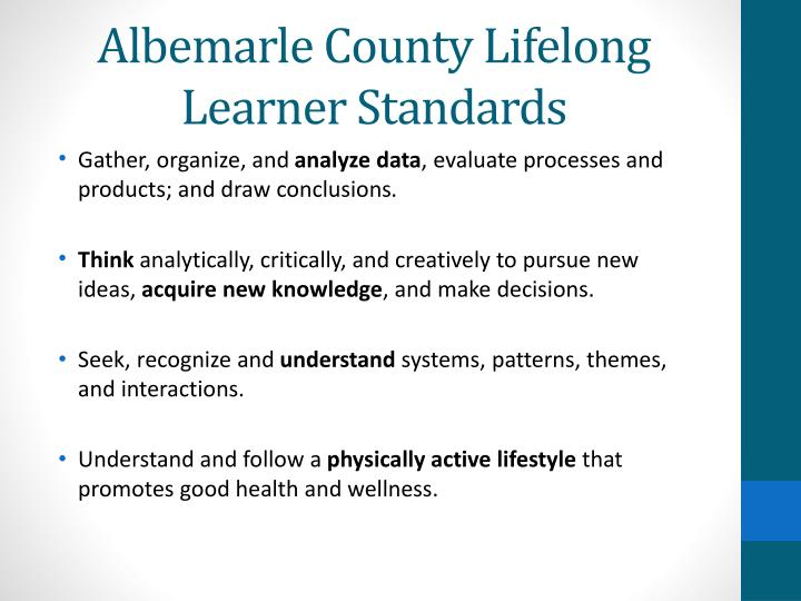 Albemarle county lifelong learner standards1