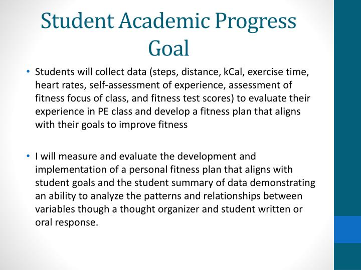 Student Academic Progress Goal