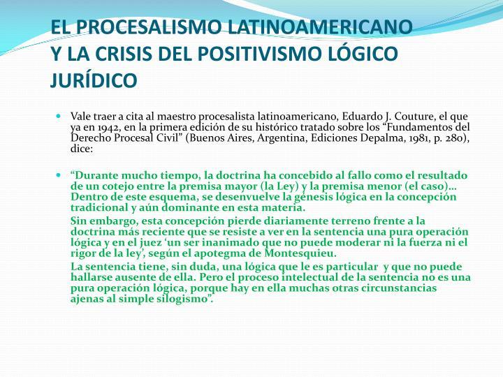 EL PROCESALISMO LATINOAMERICANO