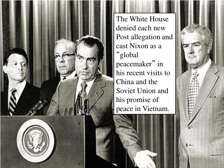 The White House denied each new Post allegation and cast Nixon as a