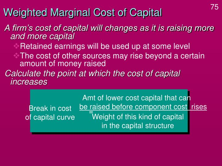Amt of lower cost capital that can