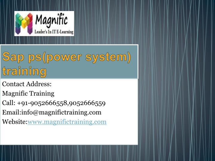 Sap ps power system training