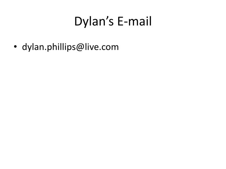 Dylan s e mail