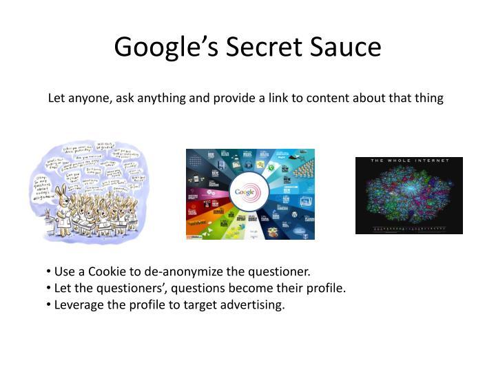 Google's Secret Sauce