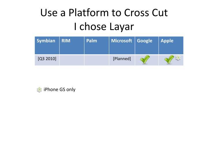 Use a Platform to Cross Cut
