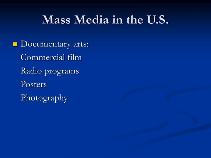 Mass Media in the U.S.
