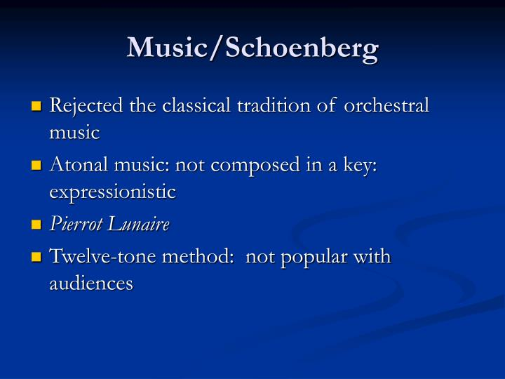 Music/Schoenberg