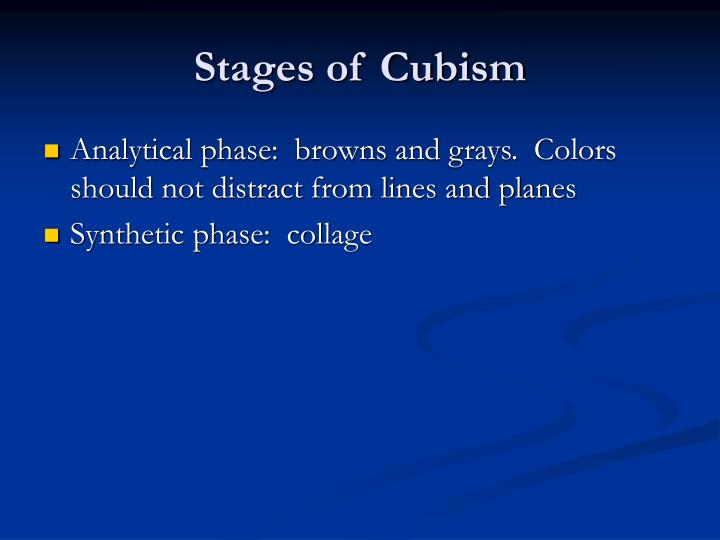 Stages of Cubism