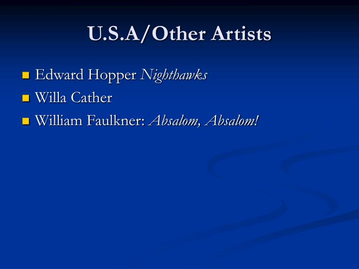 U.S.A/Other Artists