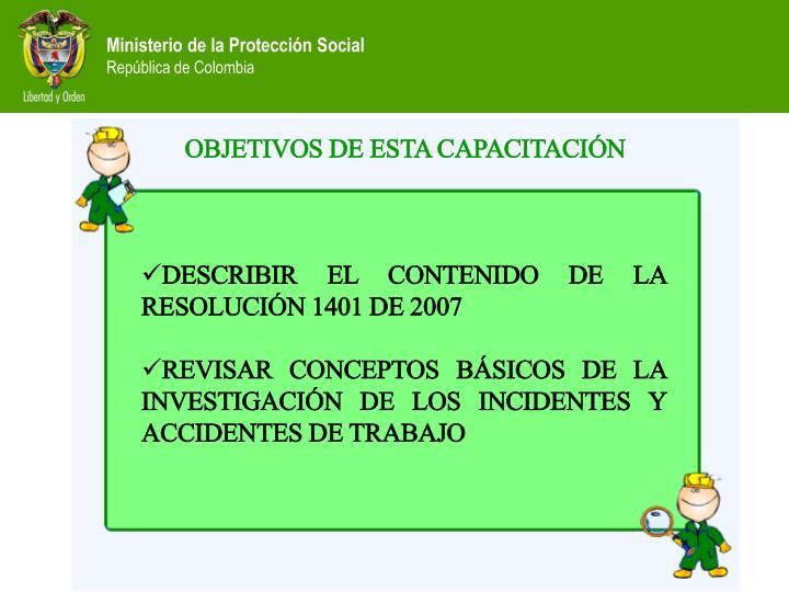 OBJETIVOS DE ESTA CAPACITACIÓN