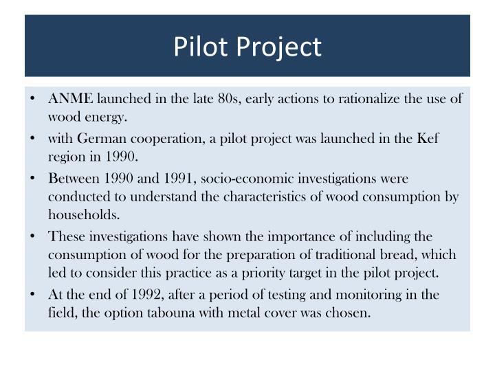 Pilot Project