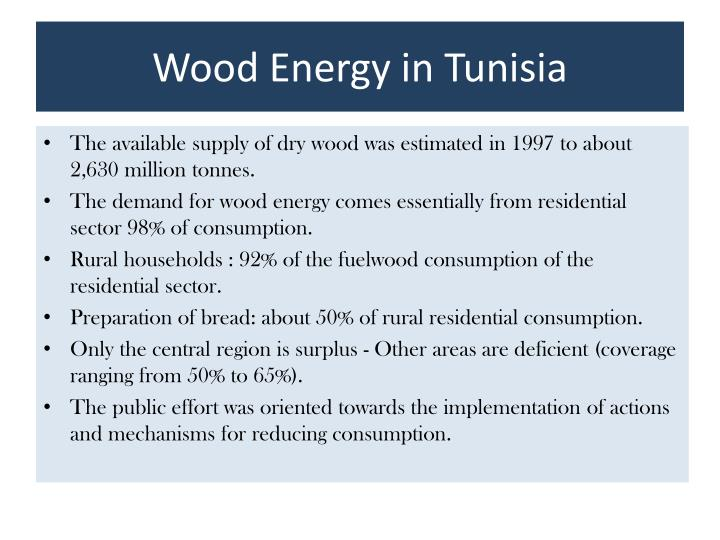 Wood energy in tunisia