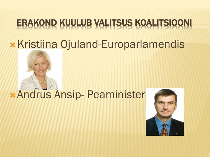 Kristiina Ojuland-Europarlamendis