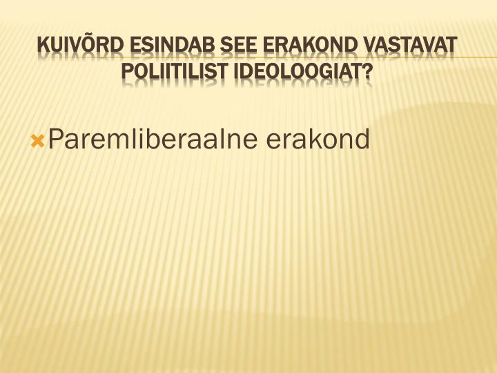 Paremliberaalne erakond