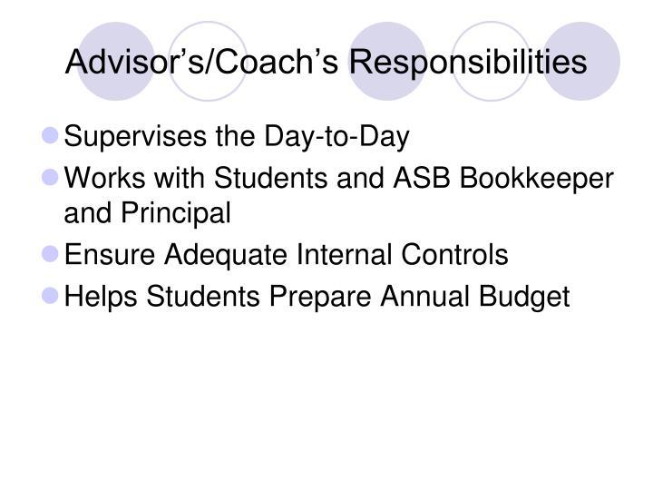 Advisor's/Coach's Responsibilities