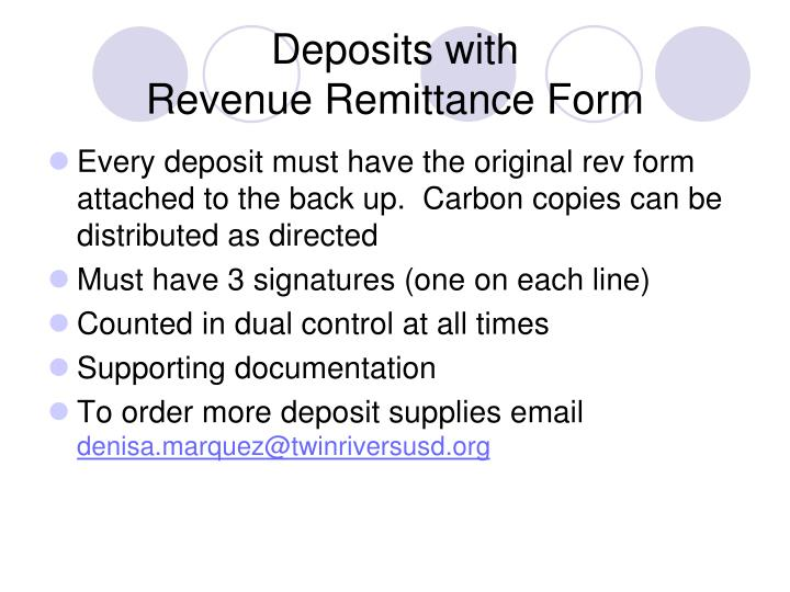 Deposits with