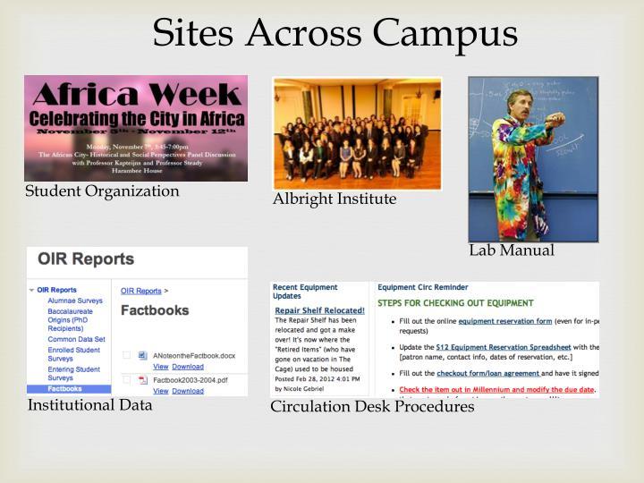 Sites Across Campus