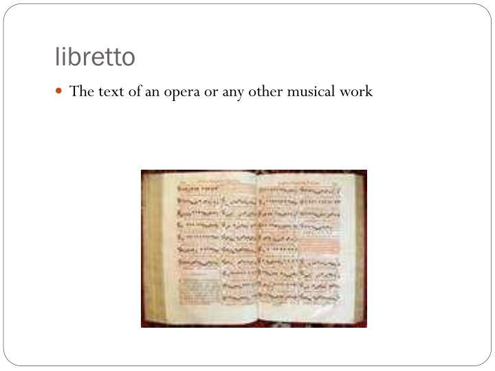 libretto