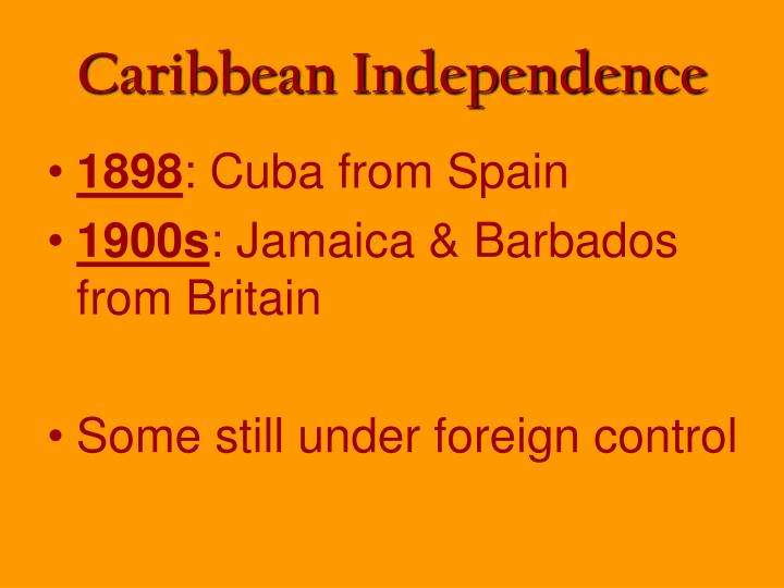 Caribbean Independence
