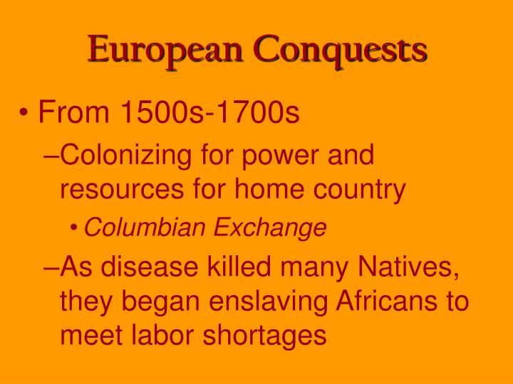 European Conquests