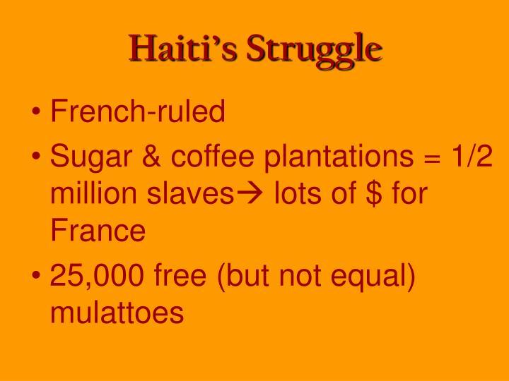 Haiti's Struggle