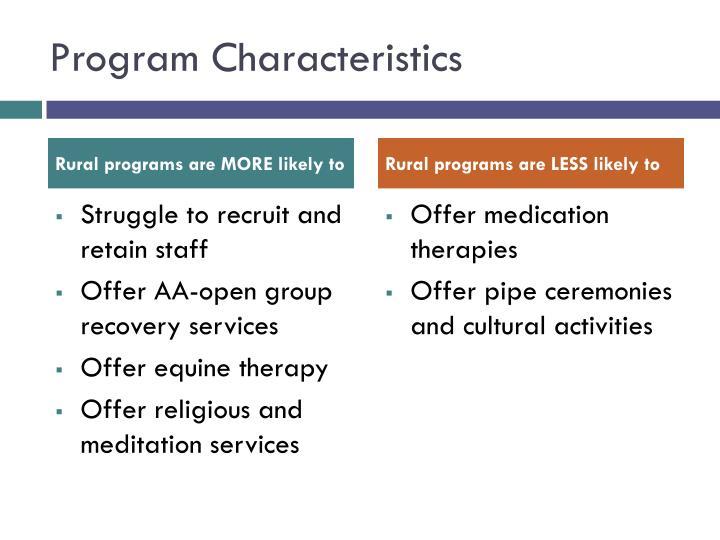 Program Characteristics
