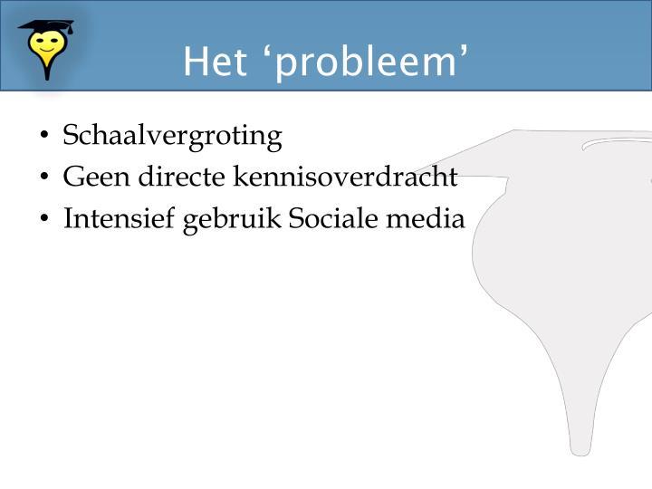 Het 'probleem'