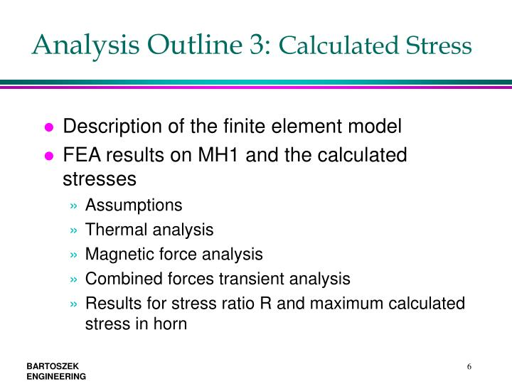 Analysis Outline 3: