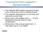 conclusions from magnetic thermal analysis