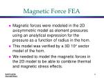magnetic force fea