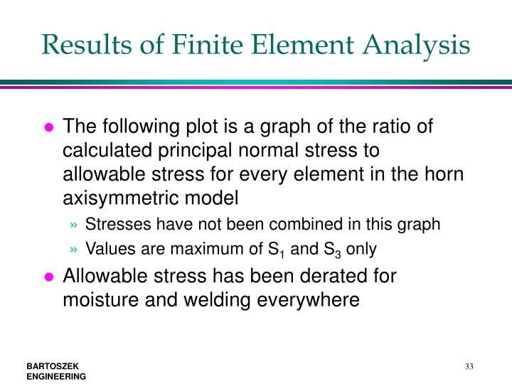 Results of Finite Element Analysis