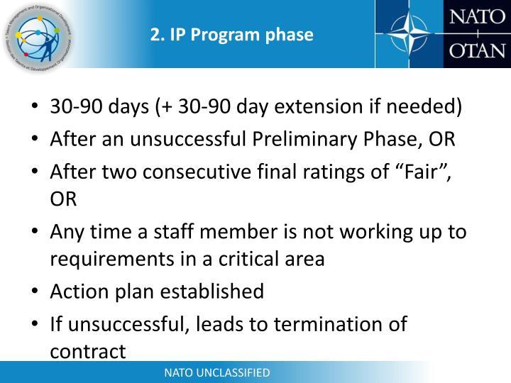 2. IP Program phase