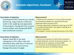 example objectives assistant