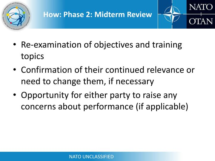 How: Phase 2: Midterm Review