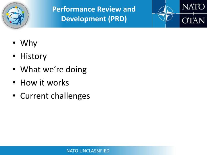 Performance Review and Development (PRD)