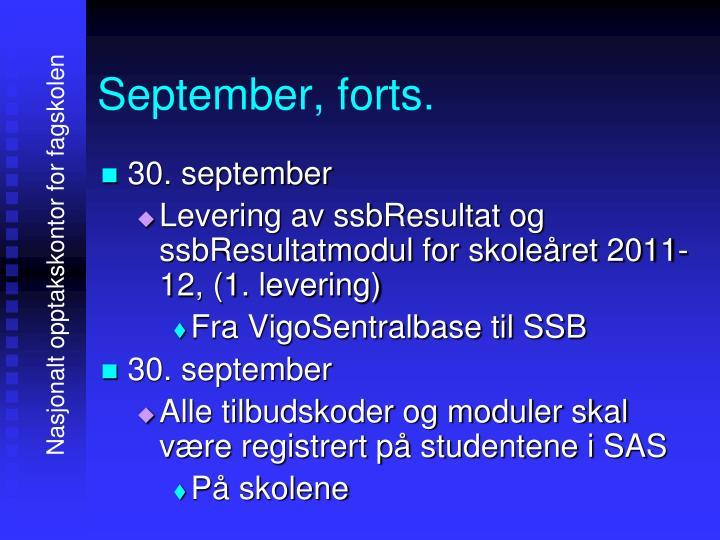 September, forts.