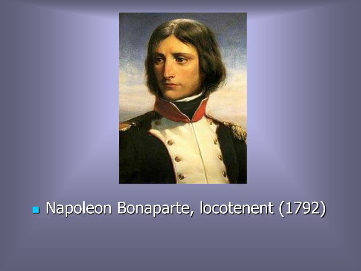 Napoleon Bonaparte, locotenent (1792)
