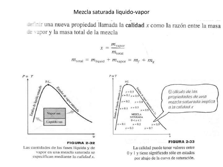 Mezcla saturada liquido-vapor
