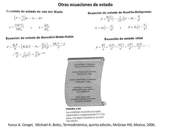 Otras ecuaciones de estado