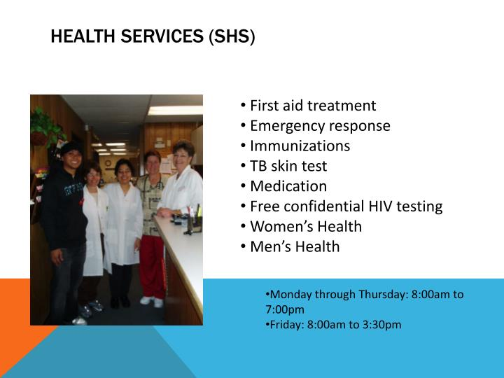 Health Services (SHS)