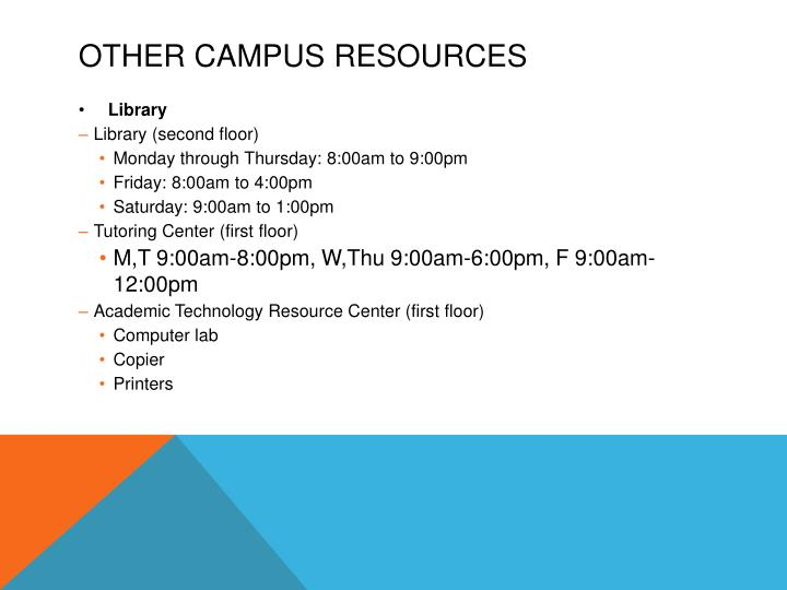 Other Campus Resources